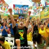 Brazil World Cup Fans cheer Knockout Round in Los Angeles