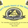 Goody Awards of the Month for May 2014 receive new certificates