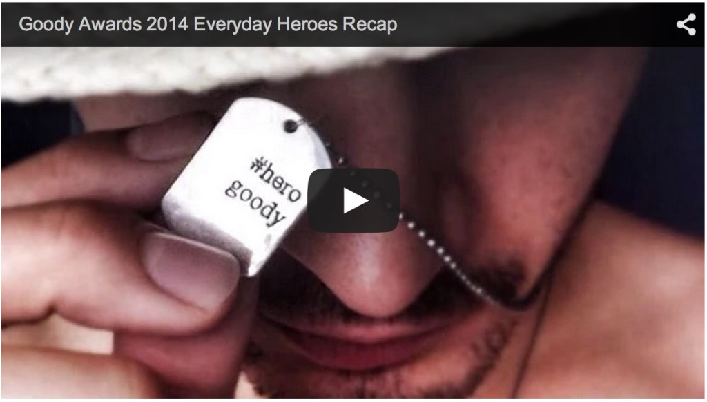 Watch our Goody Awards 2014 Recap Video with Goody Tag Winners