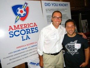 David Joseph and Aaron Kaufman, America Scores LA, give shout outs to Hernanes