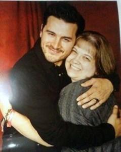 Kelly Mayer meets her role model Michael Malarkey at TVDNJ