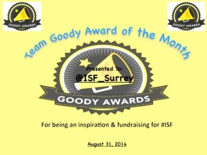 ISF Surrey wins Team Goody Award of the Month for August 2014