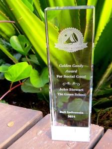 John Stewart, Green School Bali Director, receives Golden Goody Award