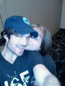 "ISF Supporter Kelly Mayer with Ian Somerhalder (""The Vampire Diaries"")"