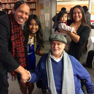 Ron Kovic with Dan Eldon Activist Award Finalist Kayla Briet and her team