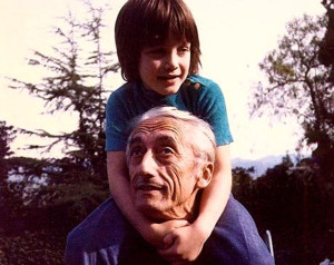Fabien Cousteau with his father Jacques Cousteau