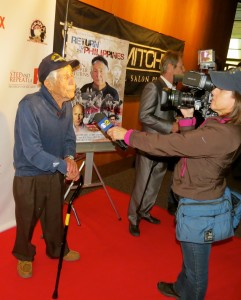 Leon Cooper interviewed by KCBS CBS2 about his mission to bring home 88,000 MIAs - Photo by Liz H Kelly