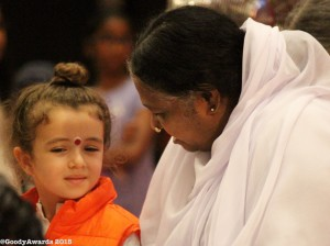 Amma dedicated this special Golden Goody Award to children for their selfless love
