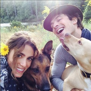 Nikki Reed and Ian Somerhalder are passionate animal advocates (photo by eonline.com)