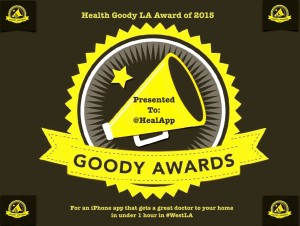 Heal App wins Health Goody LA Award for 2015